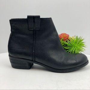 Sam Edelman Black Leather Ankle Boots | 8